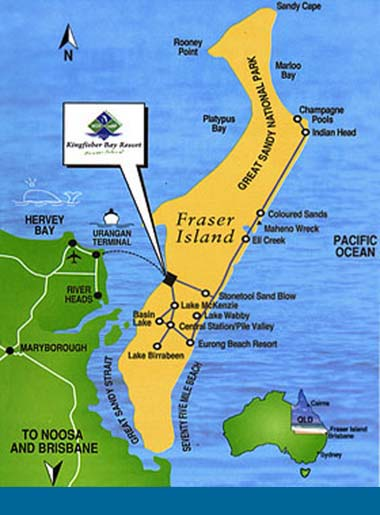 Pictures of Fraser Island Maps