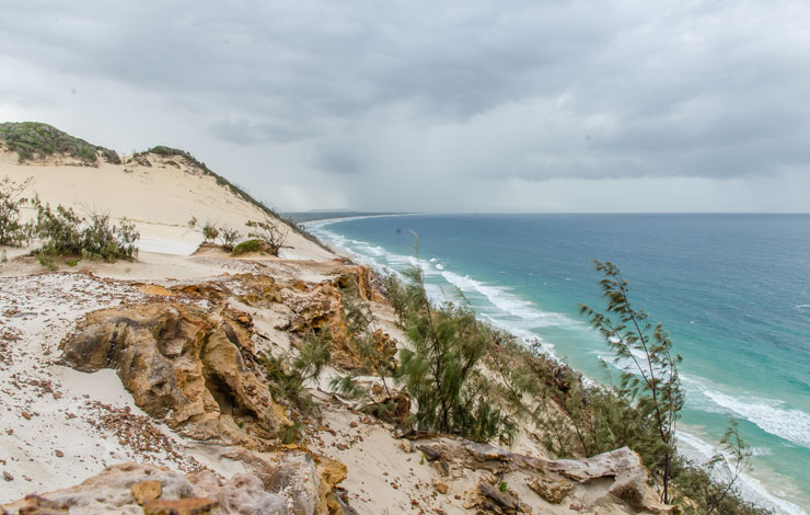 Carlo Sand Blow Rainbow Beach